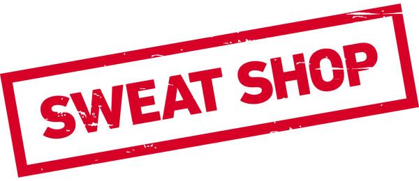 SWEAT SHOP - Happening, Performance, Kunsthandel
